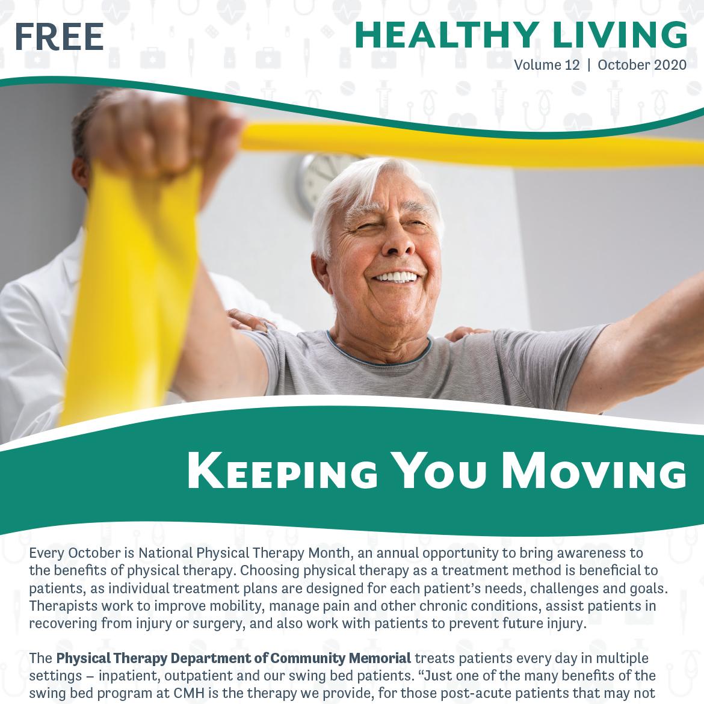 October 2020 Healthy Living Newsletter Cover