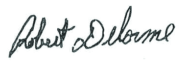 Robert Delorme Signature