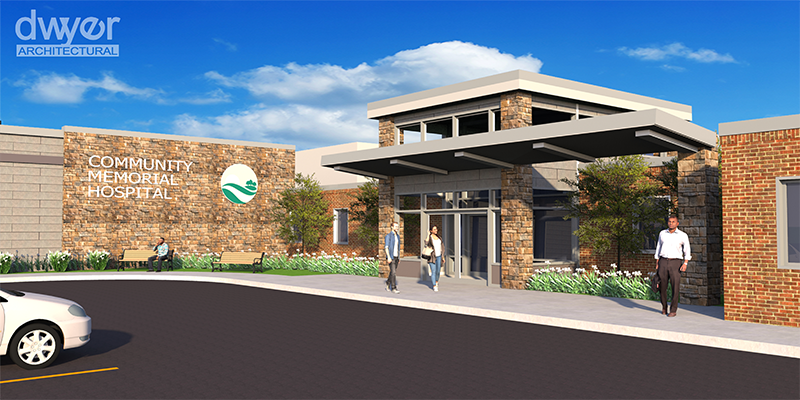 Rendering of new main entrance