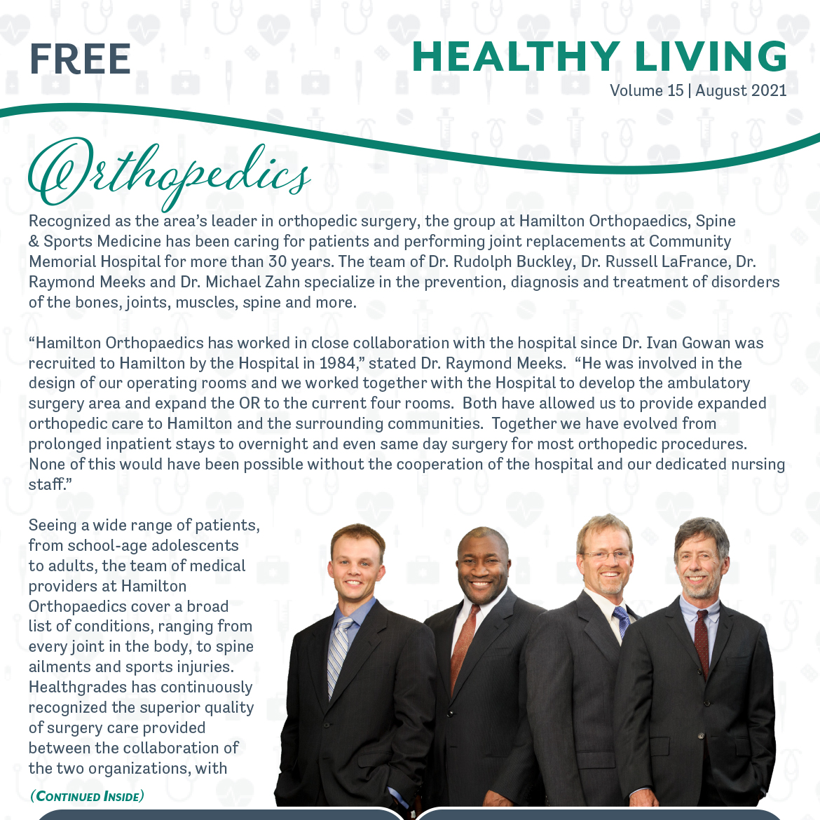 August 2021 Healthy Living Newsletter Cover